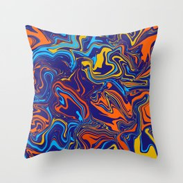 Fire and Ice Color Melt Throw Pillow