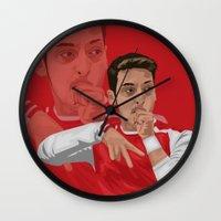 arsenal Wall Clocks featuring Mesut Ozil by siddick49