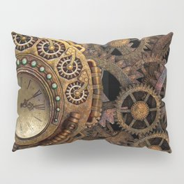 Steampunk gears background Pillow Sham