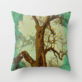 Spirit of the Wind; Green. Throw Pillow