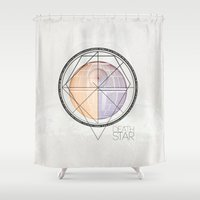 death star Shower Curtains featuring DEATH STAR by Alberto Lorenzo