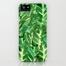 Holly Jolly Leaves (Large Pattern) iPhone Case