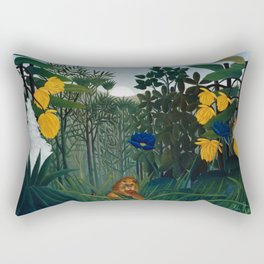 Henri Rousseau - The Repast of the Lion Rectangular Pillow