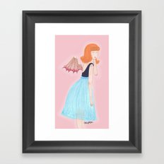 young succubus Framed Art Print