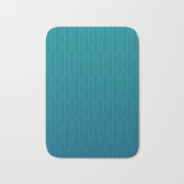 Wave pattern in teal Bath Mat
