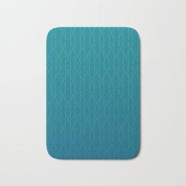 Wave pattern in teal Bath Mat