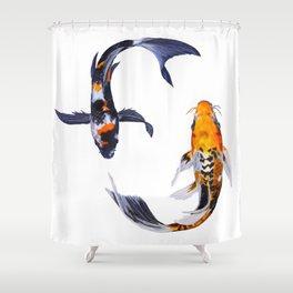 Butterfly Koi Shower Curtain