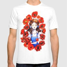 Poppies will put Her to Sleep MEDIUM White Mens Fitted Tee