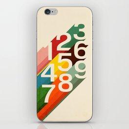 Retro Numbers iPhone Skin