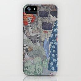 1926 Hiroshi Yoshida Japanese Woodblock Print Honest Grocer iPhone Case