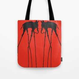 Salvador Dali Elephants Tote Bag