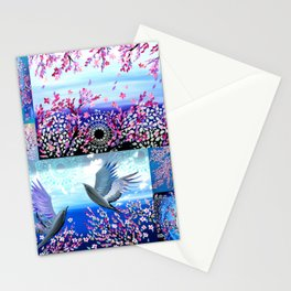 Cherry Blossom Collage Stationery Cards