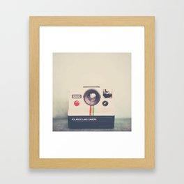 portrait of a polaroid ...  Framed Art Print