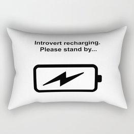 Introvert Batteries Recharging Rectangular Pillow