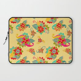 Bright Yellow loral Pattern Laptop Sleeve