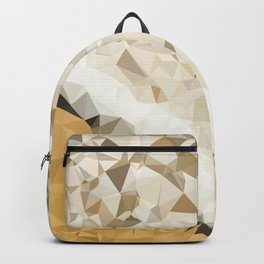 Sandy Beach with Ocean Waves Low Poly Triangles Backpack