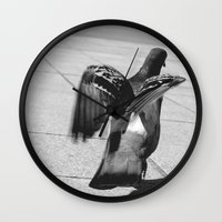 pigeon Wall Clocks featuring Pigeon by Mark Spence