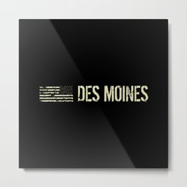 Black Flag: Des Moines Metal Print