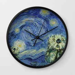 Starry Monterey Night (for Mikaela) Wall Clock