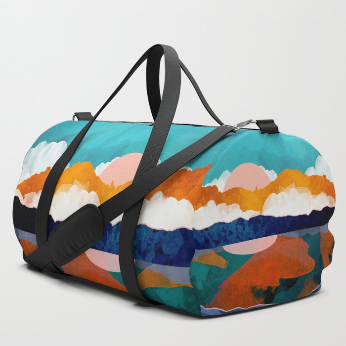Fallscape_Duffle_Bag_by_SpaceFrogDesigns__SET_OF_3