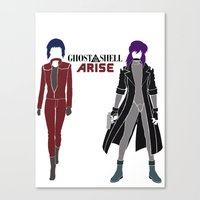 ghost in the shell Canvas Prints featuring Ghost in the Shell Arise by Krbshadow