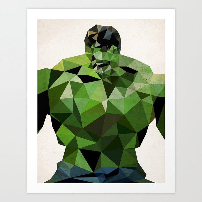 Polygon Heroes - Hulk Art Print