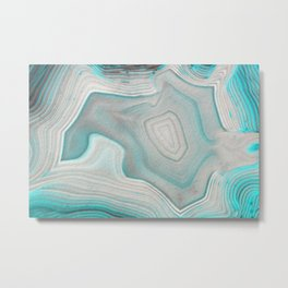 AGATE BEAUTY Metal Print