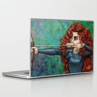 be brave Laptop & iPad Skins featuring Brave by Kimberly Castello