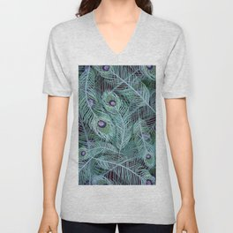 Peacock of Another Color Unisex V-Neck