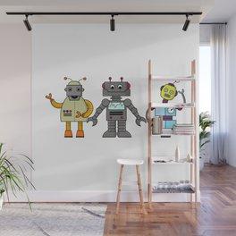 The Three Robots,  A Trio Of Retro Robots Wall Mural
