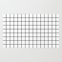 grid Area & Throw Rugs featuring GRID by Anna Lindner