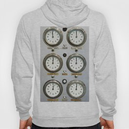 Retro clock faces on control panel Hoody