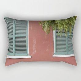 New Orleans Teal Shutters Rectangular Pillow