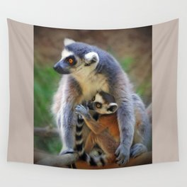 Mama and Baby Wall Tapestry