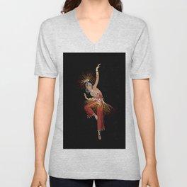 """Firebird Dancer"" Art Deco Image Unisex V-Neck"