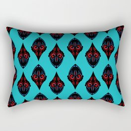 Luxury hand drawn Arabic pattern blueblack Rectangular Pillow