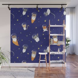 Space Cats - Pattern Wall Mural