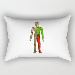Half man color Rectangular Pillow