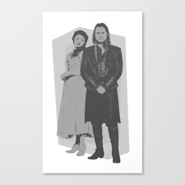 Monochrome Rumbelle Canvas Print