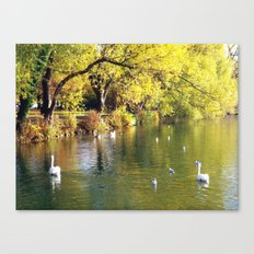 Autumn Mood at Lake Canvas Print