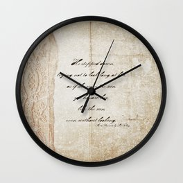 Anna Karenina Quote  As if she were the sun by Leo Tolstoy Wall Clock