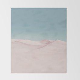 Surreal Pastel Desert Throw Blanket