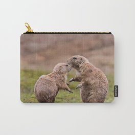Cute Little Prairie Dogs In Love Carry-All Pouch