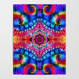 Tie-Dye Psychedelic Poster