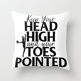 Gymnast Keep Head High and Toes Pointed Gymnastics Throw Pillow
