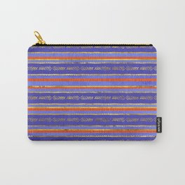 Ethnic Tribal Pattern on Violet Carry-All Pouch