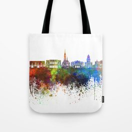 Gothenburg skyline in watercolor background Tote Bag