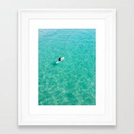 California - surfing Framed Art Print