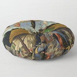 "Sandro Botticelli ""The Mystical Nativity"" Floor Pillow"