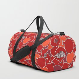 Pomegranate Harvest with Fruit and Seeds Duffle Bag
